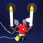 1940s Noma Lighted Christmas Halo Double Candolier