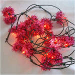 Click to view larger image of Box PINK GE Merry Midget Tinsel Flower Christmas Lights (Image4)