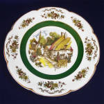 Click here to enlarge image and see more about item 8265-4: Ascot Village Service Plate Wood and Sons England 1 of 2
