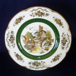 Click here to enlarge image and see more about item 8265-4B: Ascot Village Service Plate Wood and Sons England 2 of 2