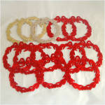 13 Die Cut Foil Paper Scrap Christmas Wreaths 6 Inches