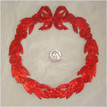 Click to view larger image of 13 Die Cut Foil Paper Scrap Christmas Wreaths 6 Inches (Image2)