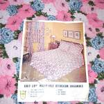Click to view larger image of 1960s Never Used Blue Pink Floral Seersucker Twin Bedspread, 2 Available (Image2)