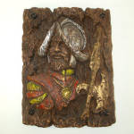 Click here to enlarge image and see more about item 8508: Mediterranean Gothic 1960s Conquistador Knight Wall Plaque