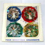 Box Jewel Brite 3D Angel Scene Plastic Christmas Ornaments