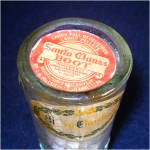 Click to view larger image of Glass Santa Boot Christmas Candy Container With Labels (Image3)