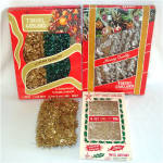 Click here to enlarge image and see more about item 8608: Assortment 4 Packages Christmas Tinsel Garland