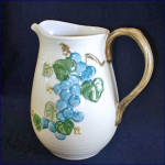 Click here to enlarge image and see more about item 8625: Metlox Sculptured Grape 64 Ounce Water Pitcher