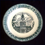 Click here to enlarge image and see more about item 8678: Royal China Colonial Heritage Blue Pie Plate
