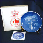 Click here to enlarge image and see more about item 8706: Bing Grondahl 1973 Country Christmas Plate With Box