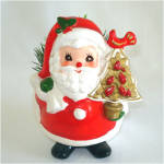 Napcoware Santa Claus With Pear Tree Christmas Planter