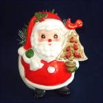 Click to view larger image of Napcoware Santa Claus With Pear Tree Christmas Planter (Image4)