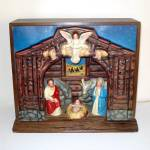 Click here to enlarge image and see more about item 8884-2: Royal Electric Musical Christmas Nativity Display