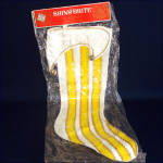Click here to enlarge image and see more about item 8894: Shiny Brite Elf Boot Christmas Stocking Mint in Package