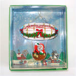 Click here to enlarge image and see more about item 8900: Hallmark 1980 Santa's Flight Christmas Ornament Mint in Box