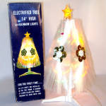 Click here to enlarge image and see more about item 8931: Rainbow Halo Lighted Fiber Optic Christmas Tree In Original Box