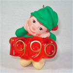 Click to view larger image of Hallmark 1990 Elf of the Year Lighted Christmas Ornament (Image2)