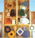 Click to view larger image of 2 Leisure Arts Crocheted Pot Holders Instruction Booklets (Image3)
