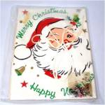 Click to view larger image of 1959 Jolly Santa Johnny Cover Sequin Bead Christmas Toilet Lid Kit (Image2)