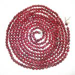 Click here to enlarge image and see more about item 9136-5: 9 Feet Dark Red Mercury Glass Beaded Christmas Garland