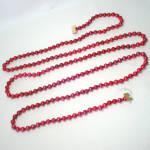 Click here to enlarge image and see more about item 9136-6: Red Beaded Mercury Glass Christmas Garland