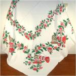 Click to view larger image of Christmas Bells, Ornaments, Holly Tablecloth 53 by 64 (Image2)