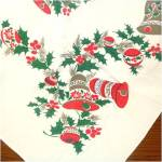 Click to view larger image of Christmas Bells, Ornaments, Holly Tablecloth 53 by 64 (Image4)