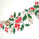 Click to view larger image of Christmas Bells, Ornaments, Holly Tablecloth 53 by 64 (Image5)