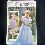 Click here to enlarge image and see more about item 9211: Simplicity Michele Piccione Bridal Gown Sewing Pattern Size 14 Uncut