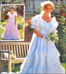 Click to view larger image of Simplicity Michele Piccione Bridal Gown Sewing Pattern Size 14 Uncut (Image2)