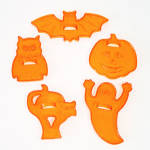 Click to view larger image of Set Transparent Orange Plastic Halloween Cookie Cutters (Image2)