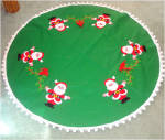 Click here to enlarge image and see more about item 9258: Felt Christmas Tree Skirt With Embroidered Santa Claus Decoration