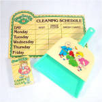 Click here to enlarge image and see more about item 9312: Cabbage Patch Kids Toy Dust Pan And Cleaning Items