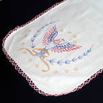 Click here to enlarge image and see more about item 9390-4: Patriotic Eagle Embroidered Dresser Scarf Table Runner