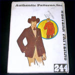 Click here to enlarge image and see more about item 9391: Authentic Patterns Man's Western Wear Blazer Jacket Size 44