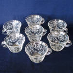 Fostoria Navarre Crystal Cups, Set of 7