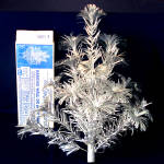 Click here to enlarge image and see more about item 9424-4: Aluminum 2 Foot Wall or Door Pom Pom Christmas Tree