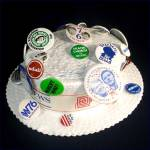 Click here to enlarge image and see more about item 9440: 1976 Democratic Convention Autographed Hat With Political Campaign Pinbacks