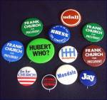 Click to view larger image of 1976 Democratic Convention Autographed Hat With Political Campaign Pinbacks (Image6)