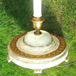 Click to view larger image of 4-Light 1920s Floor Lamp White with Gold Gilt and Slag Glass Base (Image4)