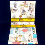 Click here to enlarge image and see more about item 9596: 2 Packages Vintage Holly Hobbie Gift Wrap Paper
