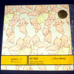 Click here to enlarge image and see more about item 9598-1: Kewpie Babies 1973 Gift Wrap Paper