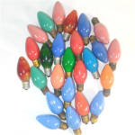 Click to view larger image of Box C-9 Christmas Colored Light Bulbs Including Swirl Flame (Image3)
