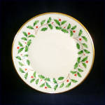 Click here to enlarge image and see more about item 9651: Lenox Holiday Christmas Dinner Plate
