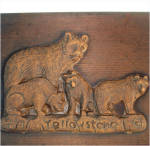 Click to view larger image of Carved Wooden Yellowstone Bears Dresser or Jewelry Box (Image3)