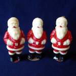 Click here to enlarge image and see more about item 9808-3: Three 1950s Tavern Santa Claus Christmas Candles