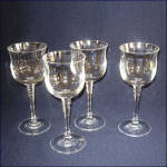 Set 4 Mikasa Kensington Lead Crystal Wine Goblets