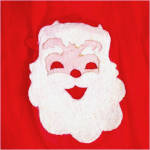 Click to view larger image of Child's Sheer Red Christmas Santa Claus Apron (Image2)