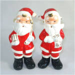 Full Figure Christmas Santa Claus 1950s Salt and Pepper Shakers