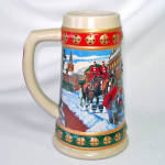 Click to view larger image of Budweiser 1993 Annual Christmas Stein Hometown Holiday (Image2)